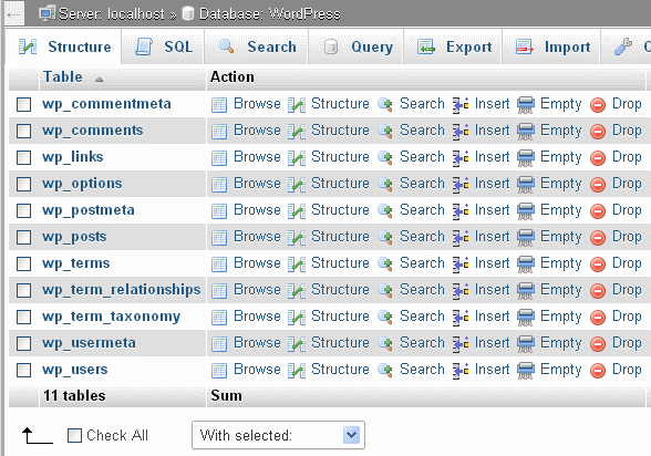 Image:phpMyAdmin-4.0.5-structure.png