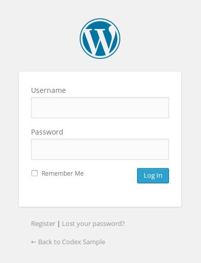 customizing the login form wordpress codex Create PHP Password Script wordpress login form page screenshot