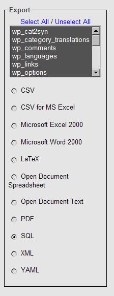 Image:phpMyAdmin_backup_export.png