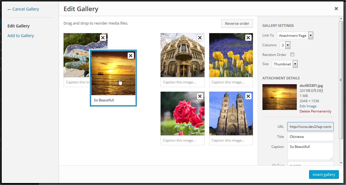 Set default number of columns in gallery - WordPress Development Stack Exchange