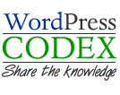 WordPress Codex Logo