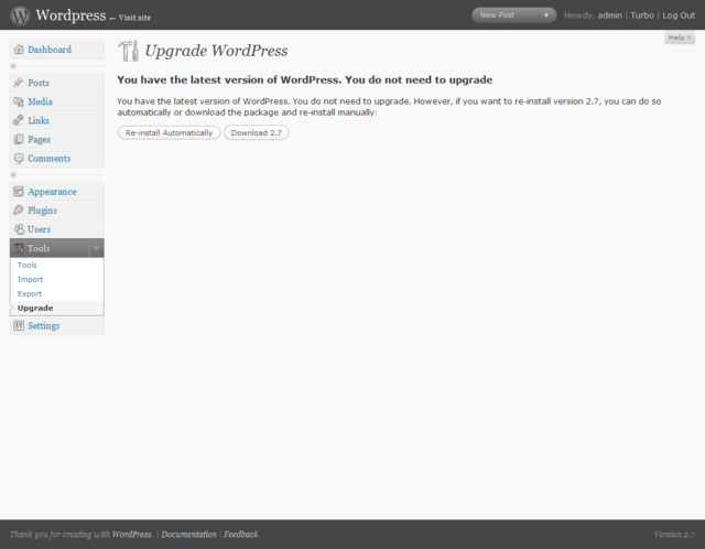 WordPress 3.0 Upgrade