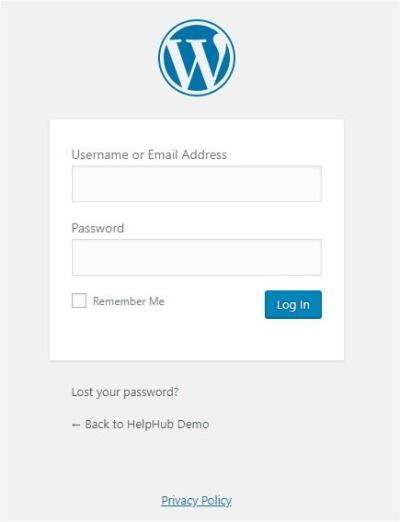 Settings Privacy Screen WordPress Codex