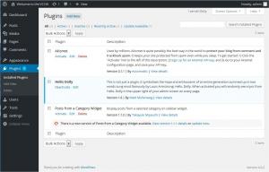 Управление плагинами « WordPress Codex