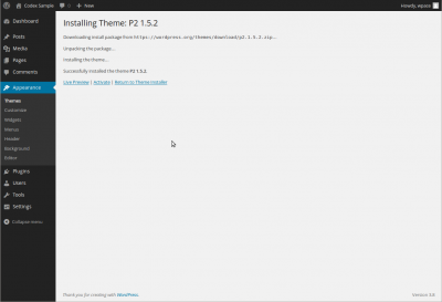 Installing Theme Screen