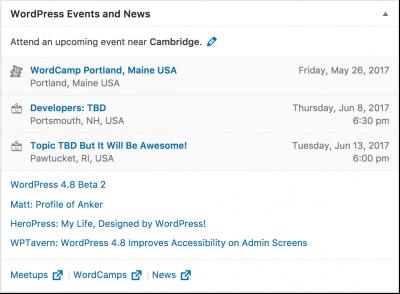 Events Widget