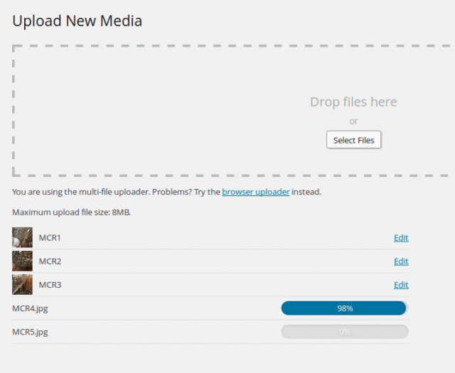 Media Add New Screen